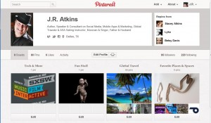 Social Media Consultant J.R> Atkins discusses the new Pinterest Profile