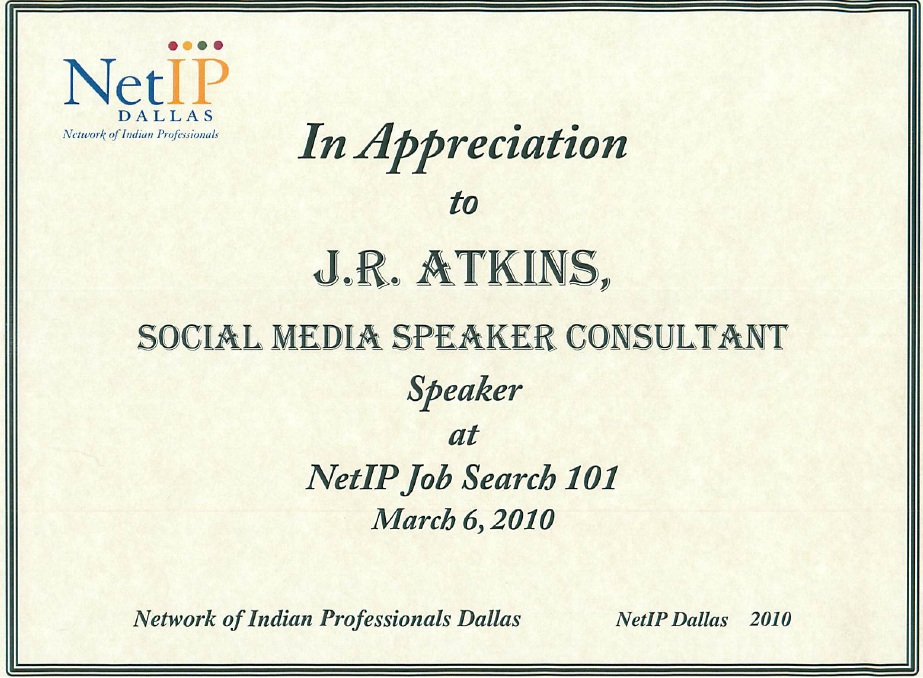 Author J.R. Atkins speakons using social media to help with your job search