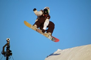 J.R. Atkins comments on snowboard big air